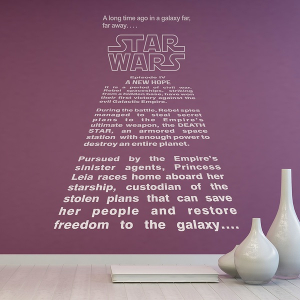 Stickers muraux: Star Wars texte d introduction