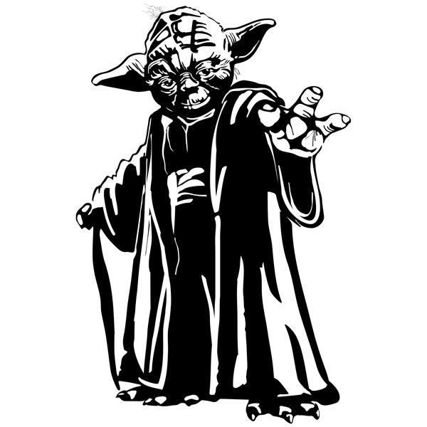 Stickers muraux: Maître Yoda