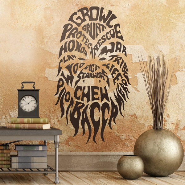 Stickers muraux: Typographique Chewbacca