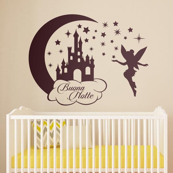 Stickers pour enfants: Château, étoiles et Tinkerbell Buona Notte