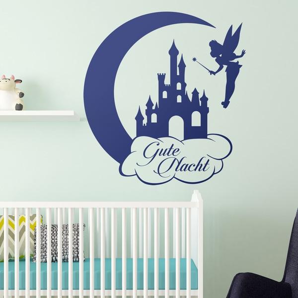 Stickers pour enfants: Tinkerbell, Château et de la Lune Gute Nacht