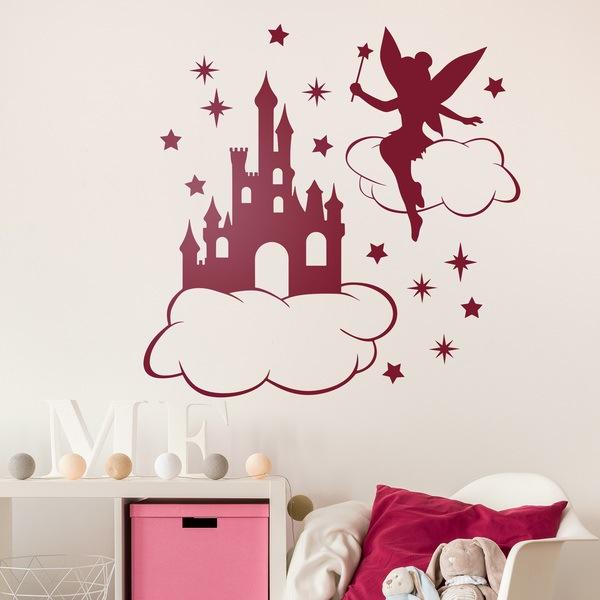 Stickers pour enfants: Tinkerbell, nuages, étoiles et le château