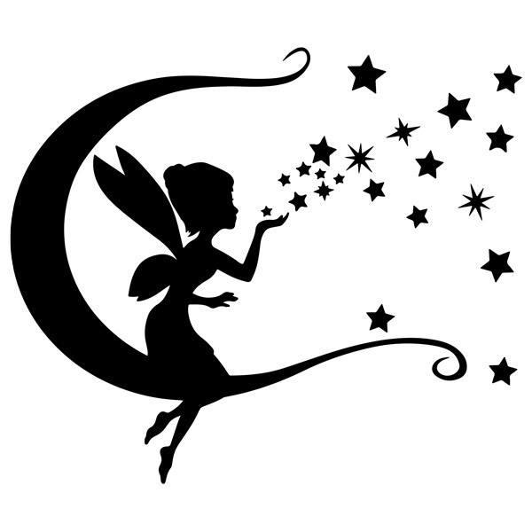 Stickers pour enfants: Tinkerbell, lune et les étoiles