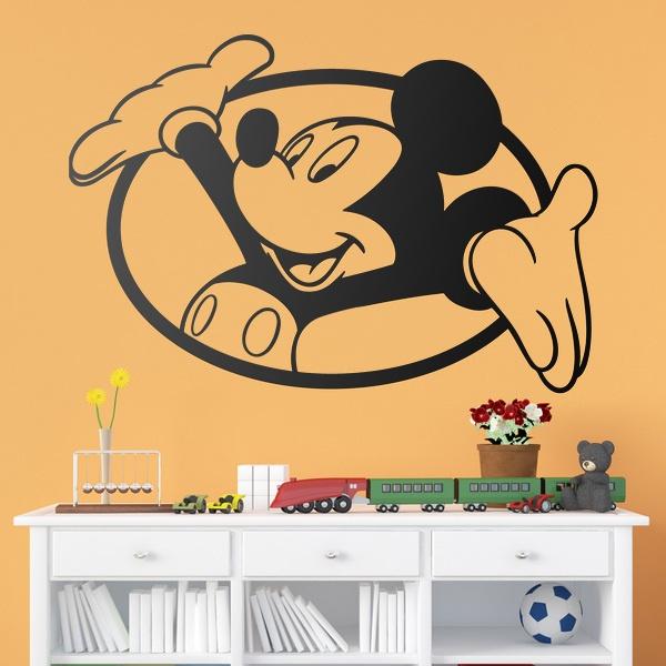 Stickers pour enfants: Fenêtre Mickey Mouse