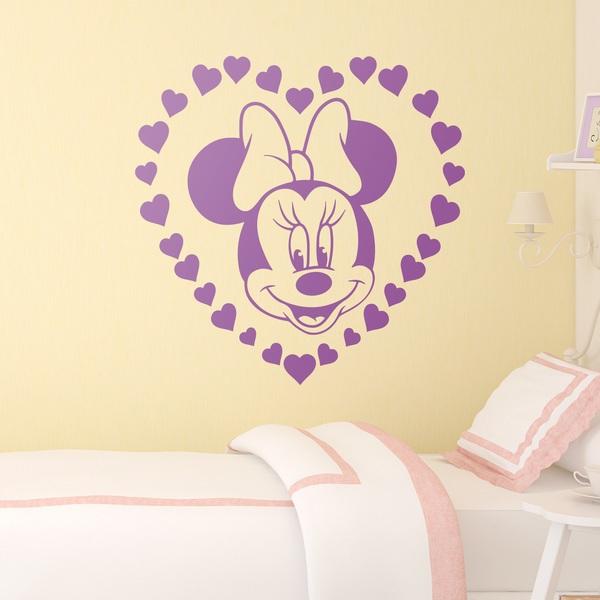 Stickers pour enfants: Minnie Mouse et coeurs