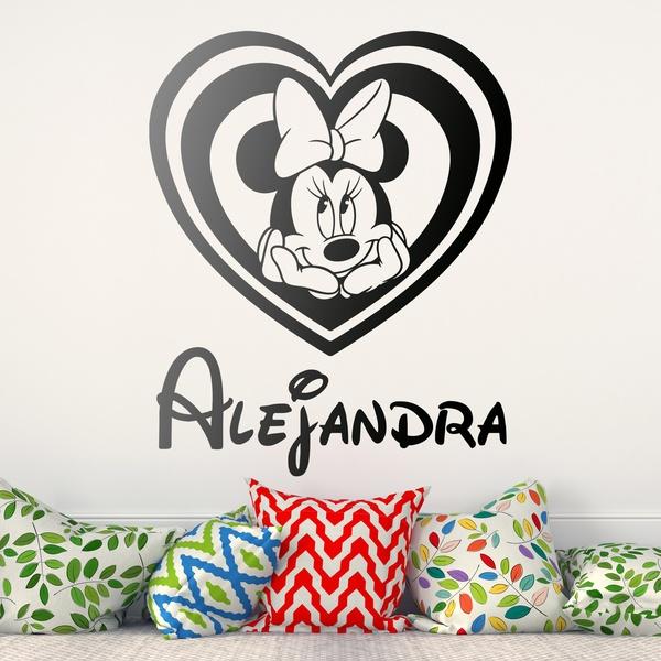 Stickers pour enfants: Nommé Coeur Minnie Mouse