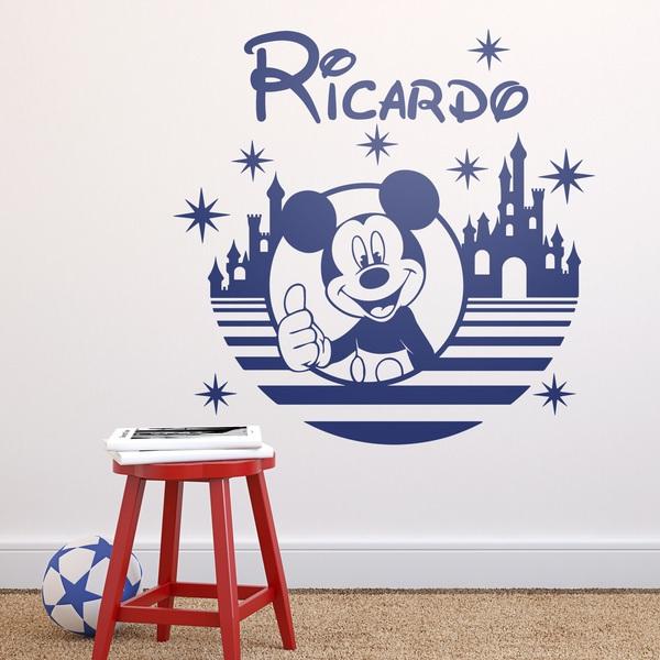 Stickers pour enfants: Mickey Mouse, le château et les étoiles