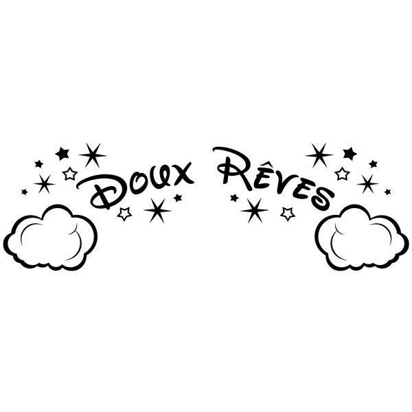 Stickers pour enfants: Nuages et les étoiles Doux Rêves