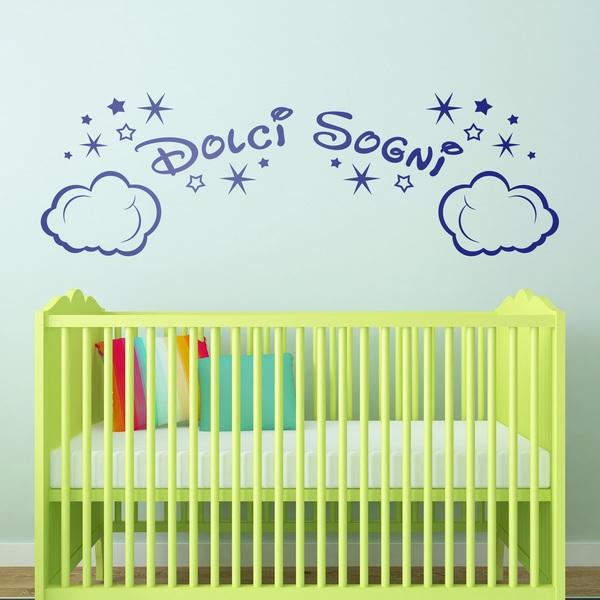 Stickers pour enfants: Nuages et les étoiles Dolci Sogni