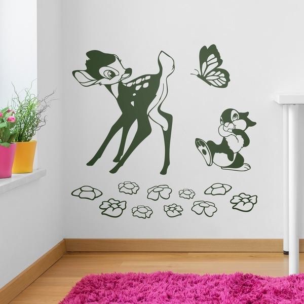 Stickers pour enfants: Bambi, papillon et l écureuil