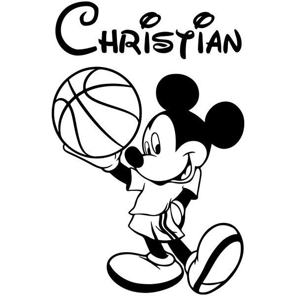 Stickers pour enfants: Mickey Mouse Basket 1