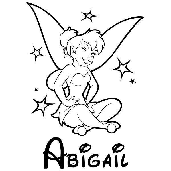 Stickers pour enfants: Tinkerbell et le nom