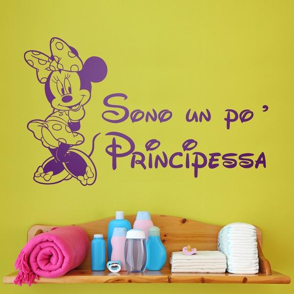 Stickers pour enfants: Minnie Sono un po principessa