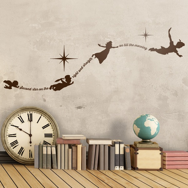 Stickers pour enfants: Typographique Peter Pan En