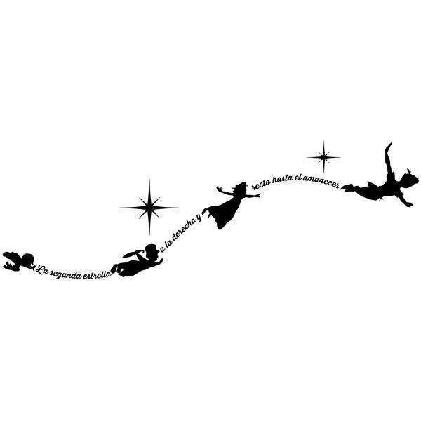 Stickers pour enfants: Typographique Peter Pan Es