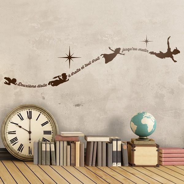 Stickers pour enfants: Typographique Peter Pan Fr