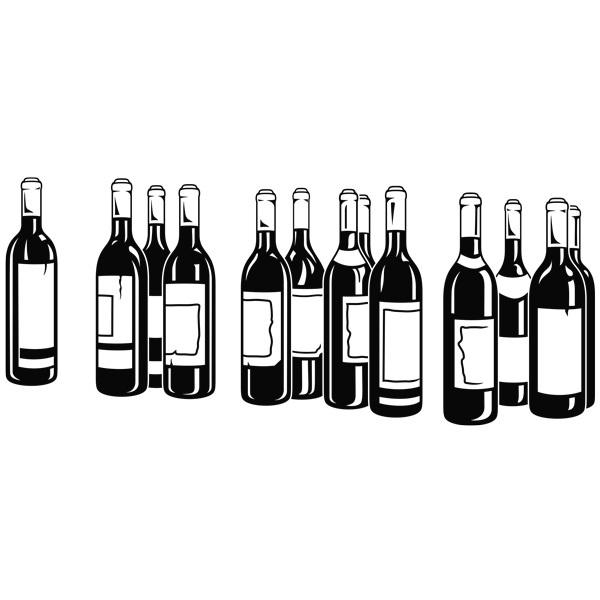 Stickers muraux: Bouteilles de vin rouge