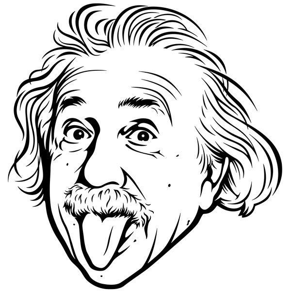 Stickers muraux: Albert Einstein