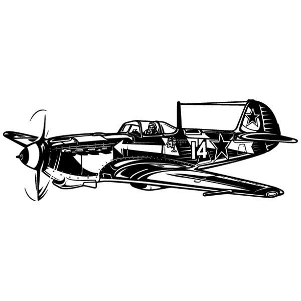 Stickers muraux: Avion de chasse de la Seconde Guerre mondiale