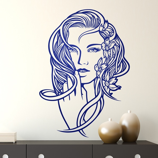 Stickers muraux: Coiffure florale