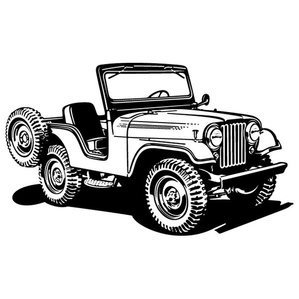 Stickers muraux: Jeep Guerre mondiale II