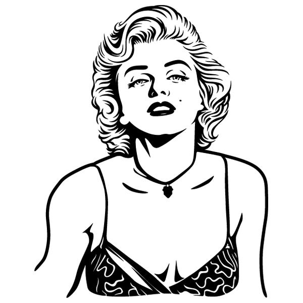 Stickers muraux: Marilyn Monroe