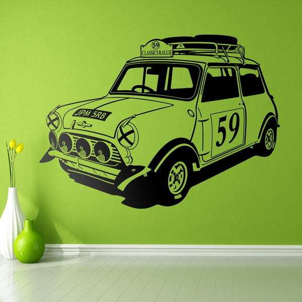 Stickers muraux: Mini Rally Classics années 60