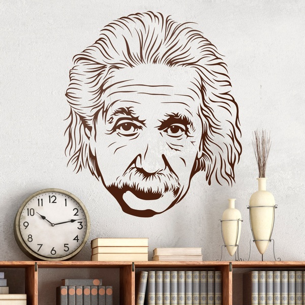 Stickers muraux: Albert Einstein 2