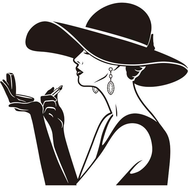 Stickers muraux: Dame élégante maquillage