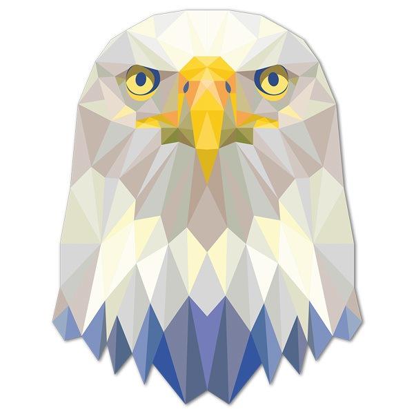 Stickers muraux: Aigle tête de l origami