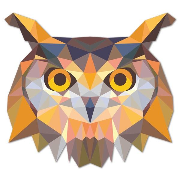 Stickers muraux: Tête de hibou origami