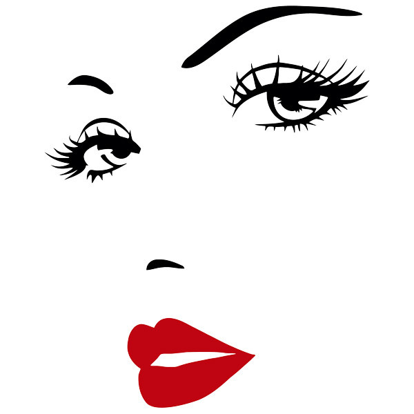 Stickers muraux: Beau visage de femme