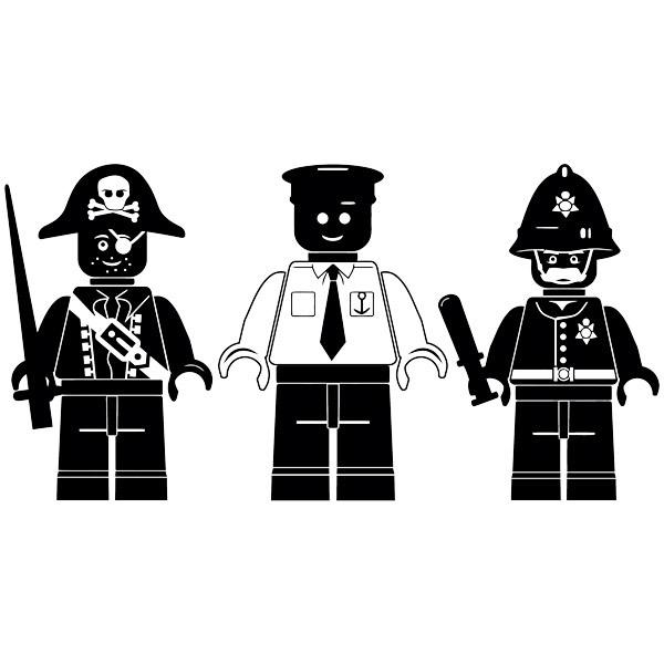 Stickers pour enfants: Triptyque chiffres Lego
