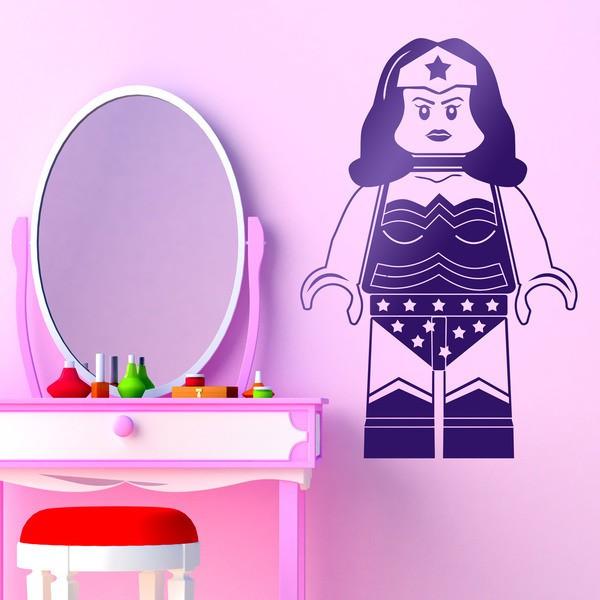 Stickers pour enfants: Figure Lego Superwoman