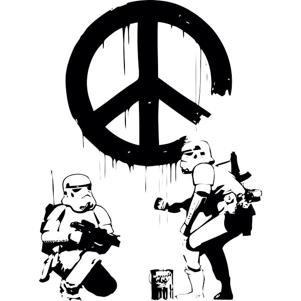 Stickers muraux: Banksy Stormtroopers style