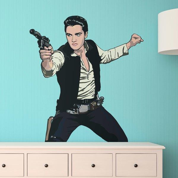 Stickers muraux: Elvis Han Solo