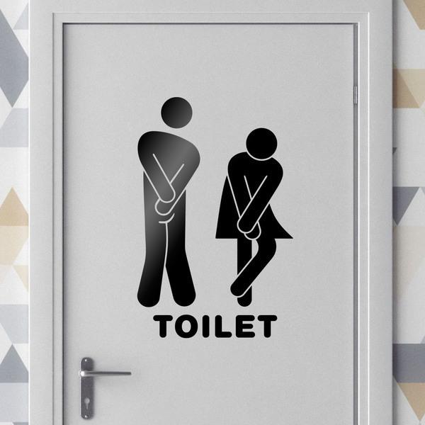 Stickers muraux: Icônes drôle Toilet de salle de bain