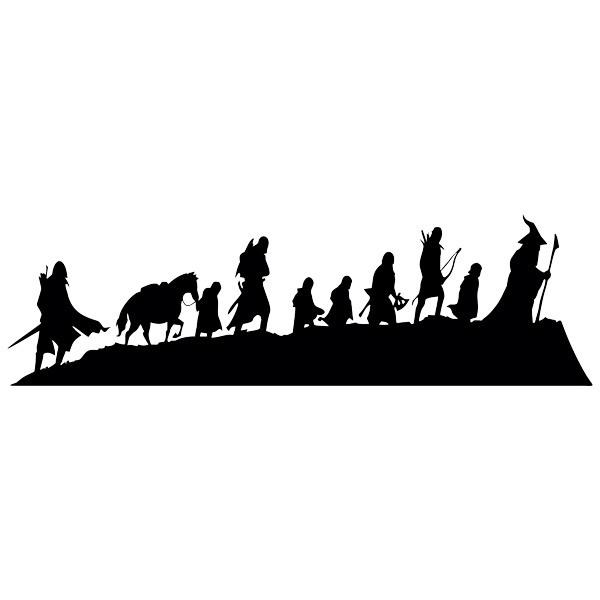 Stickers muraux: Skyline Le Seigneur des Anneaux