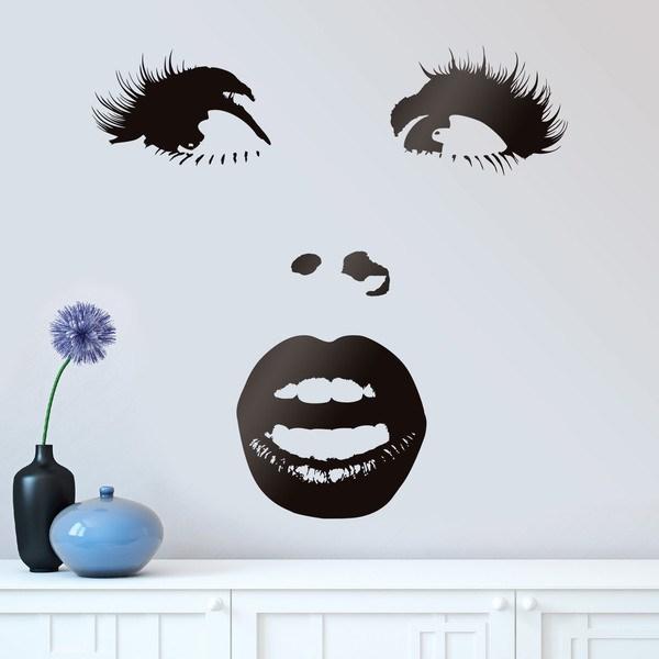 Stickers muraux: Visage de femme Surpris