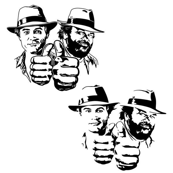 Stickers muraux: Bud Spencer et Terence Hill