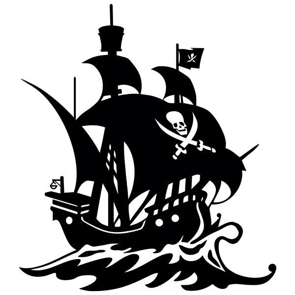 Stickers pour enfants: Voile de bateau pirate