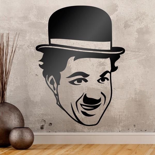 Stickers muraux: Charles Chaplin visage