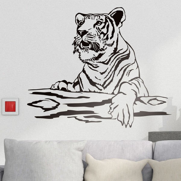 Stickers muraux: Tiger sur un journal