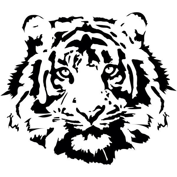 Stickers muraux: Visage de tigre