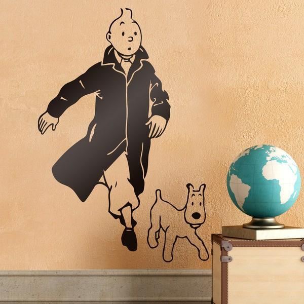 Stickers pour enfants: Tintin et Milou
