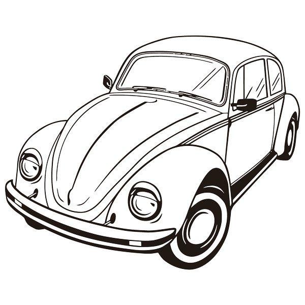 Stickers muraux: Volkswagen Beetle 2