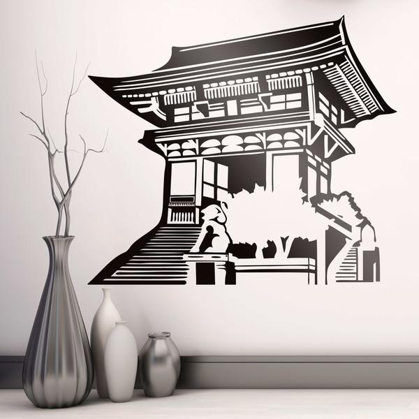 Stickers muraux: Temple oriental