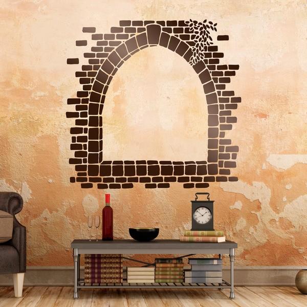 Stickers muraux: Fenêtre en pierre