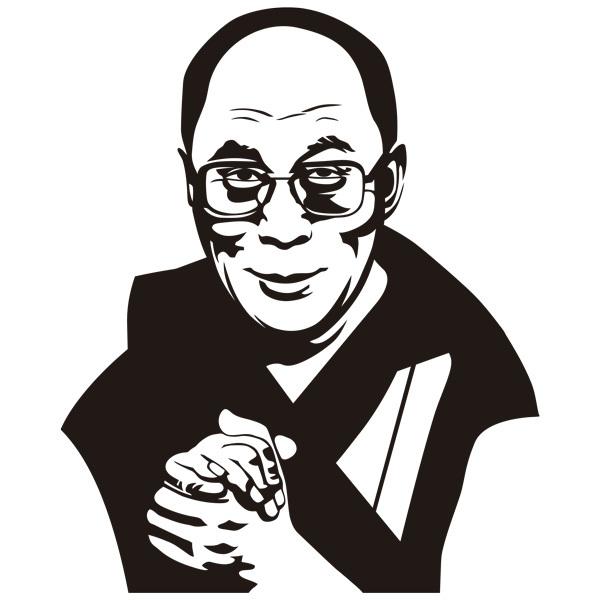 Stickers muraux: Dalai Lama