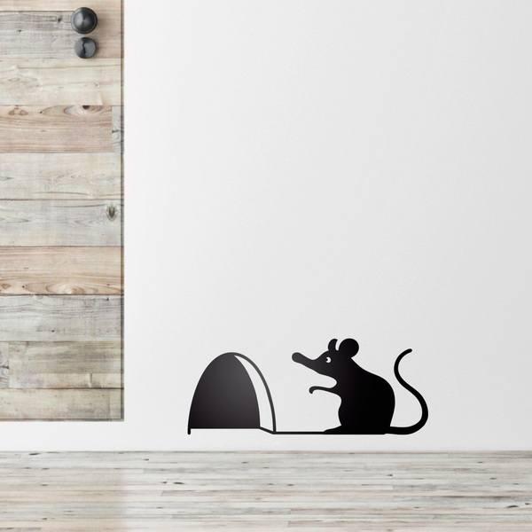 Stickers pour enfants souris sur la porte d entr e for Stickers porte d entree
